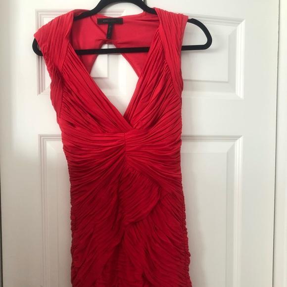 BCBGMaxAzria Dresses | Bcbg Red Ruched Dress | Poshmark